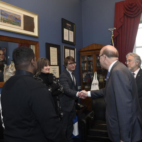 Justin Roberts meets Rep. McGovern, 2018