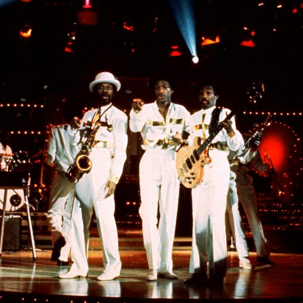 Kool & The Gang perform live in 1970 in matching all-white outfits