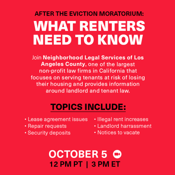 After the Eviction Moratorium: What Renters Need to Know Graphic