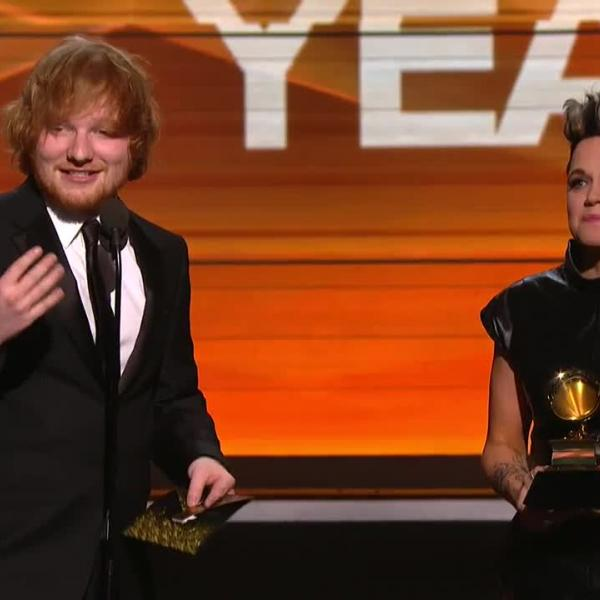 """Ed Sheeran's """"Thinking Out Loud"""" wins Song Of The Year"""