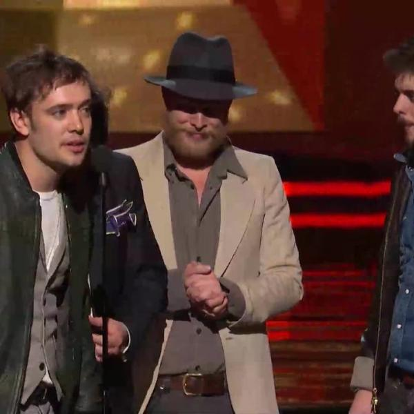 Mumford & Sons win Album Of The Year