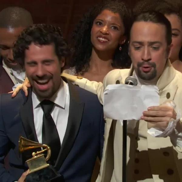 'Hamilton' wins Best Musical Theater Album GRAMMY