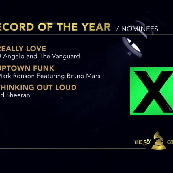 Record Of The Year: 58th GRAMMY Nominees