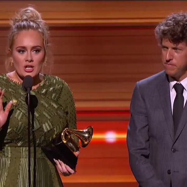 Adele: 'Hello' wins Song Of The Year GRAMMY