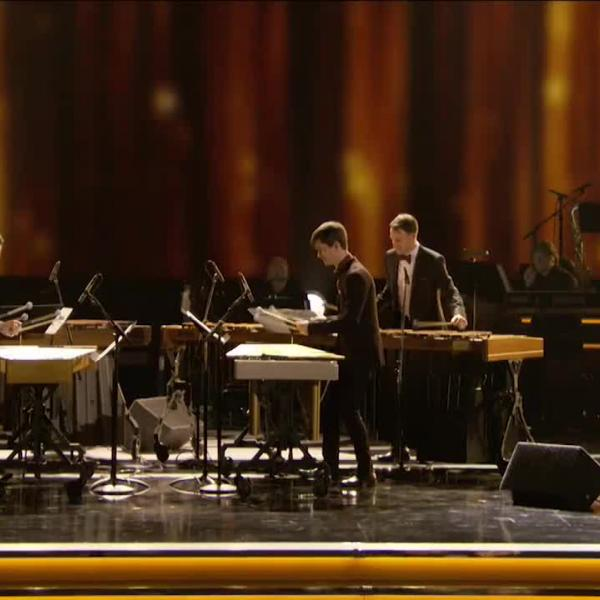 "Third Coast Percussion perform ""Mallet Quartet: III (Fast)"" at the 59th GRAMMYs"