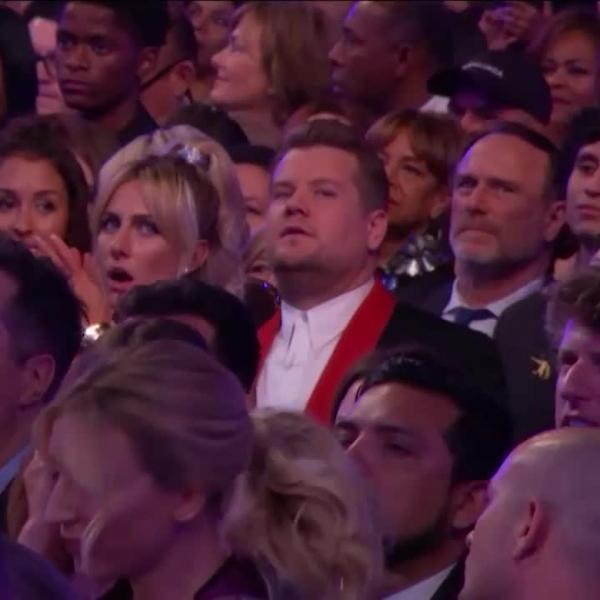 James Corden: GRAMMY Audience Cam | Prince Tribute