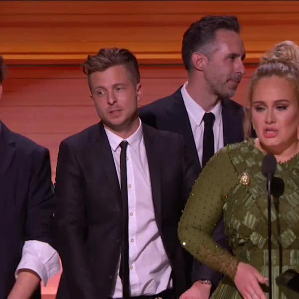 Adele wins Album Of The Year GRAMMY for '25'