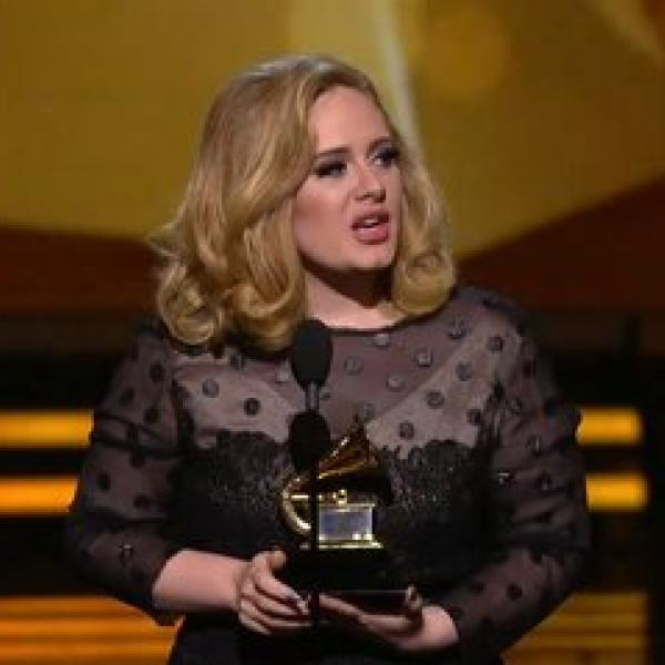 Adele's wins Record Of The Year GRAMMY