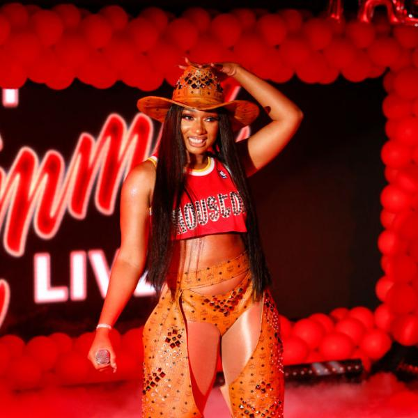 """Megan Thee Stallion performs on """"Jimmy Kimmel Live!"""" in 2019"""
