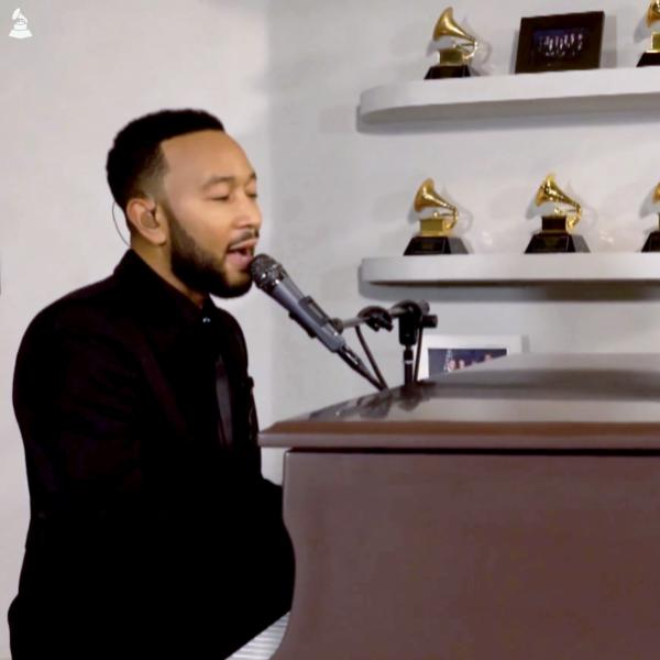 John Legend performs at MusiCares: Music On A Mission
