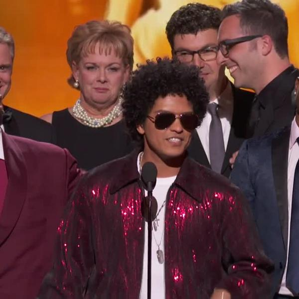 Watch: Bruno Mars Wins Album Of The Year