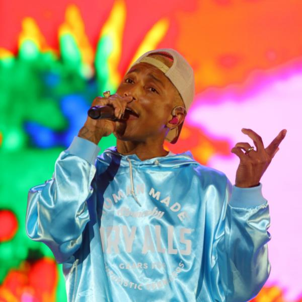 Pharrell Williams performs at GRAMMY Festival China in Beijing on April 30