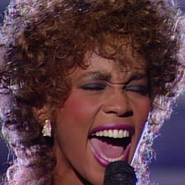Whitney Houston performs at the 29th GRAMMYs