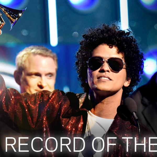Bruno Mars Wins Record Of The Year