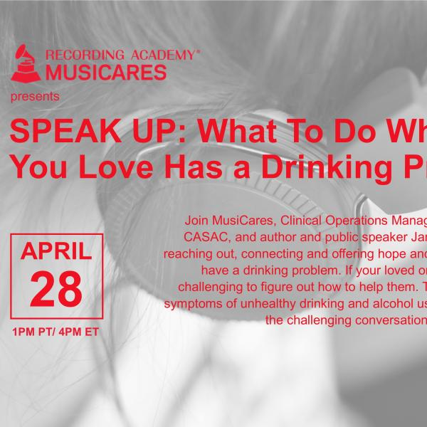 SPEAK UP: What To Do When Someone You Love Has a Drinking Problem Flyer