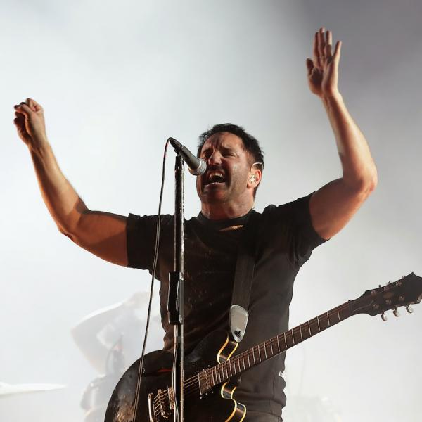 Trent Reznor of Nine Inch Nails performs live during the Incheon Pentaport Rock Festival 2018