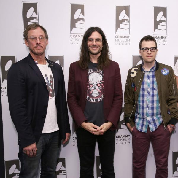 Weezer and Scott Goldman at the GRAMMY Museum