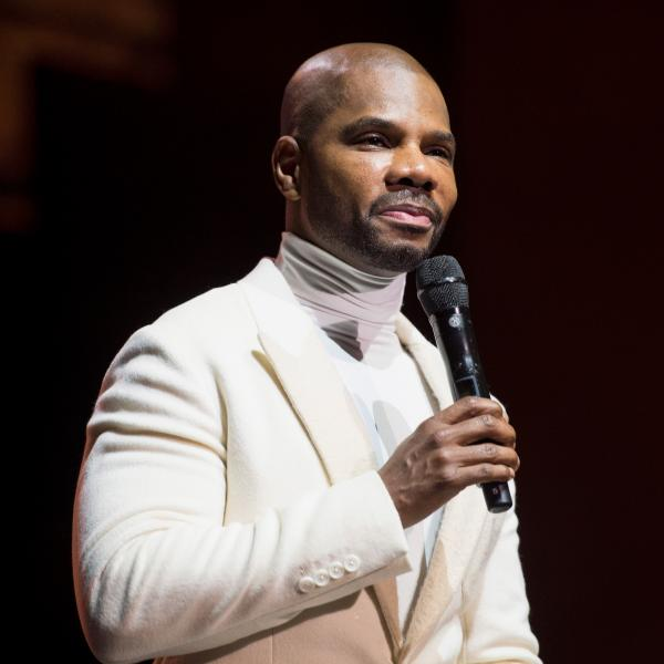 Kirk Franklin speaks onstage in 2017