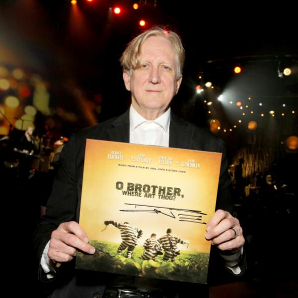 T Bone Burnett holds the 'O Brother, Where Art Thou?' vinyl soundtrack