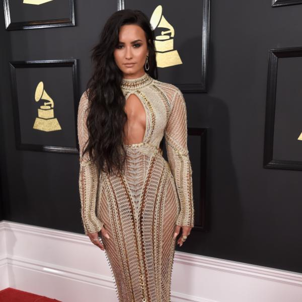 Demi Lovato at the 59th GRAMMY Awards in 2017