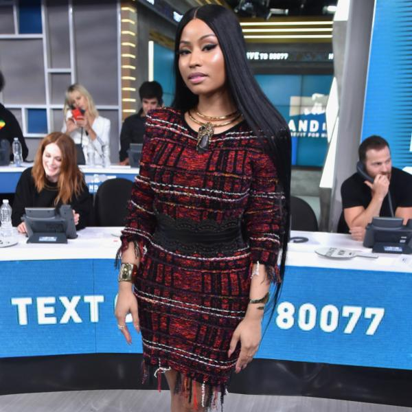 "Nicki MInaj at ""Hand In Hand"" telethon in 2017"