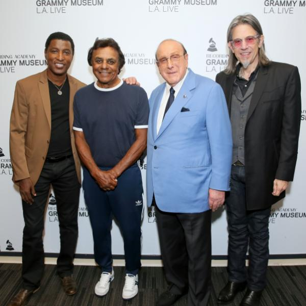 Babyface, Johnny Mathis, Clive Davis and Scott Goldman at the GRAMMY Museum