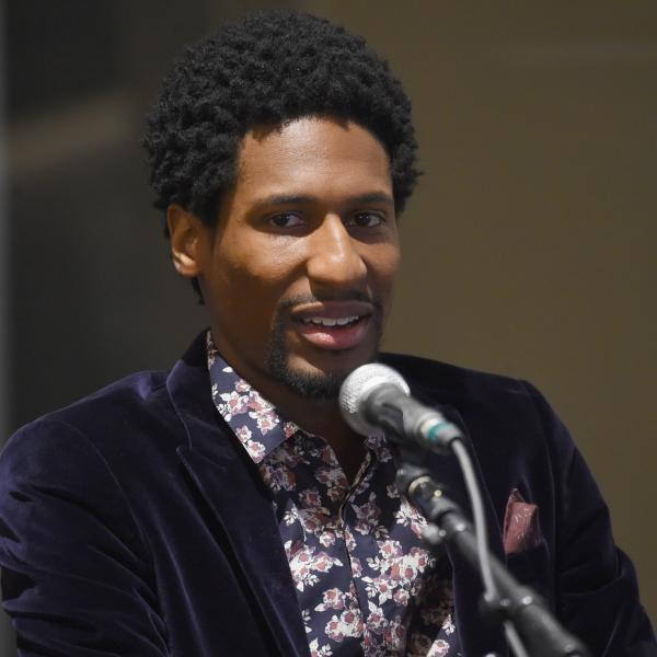 Jon Batiste speaks to GRAMMY Camp jazz students during 2018 GRAMMY Week
