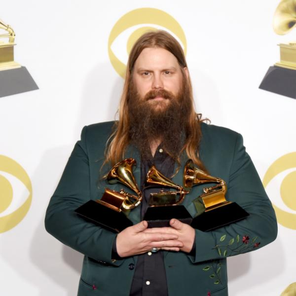 Chris Stapleton backstage at the 60th GRAMMY Awards