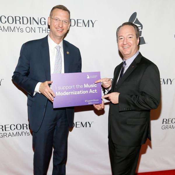 Rep. Doug Collins and Daryl Friedman at the 2018 GRAMMYs on the Hill Awards