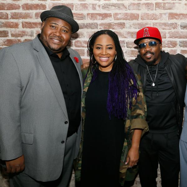 Issachah Savage, Lalah Hathaway, Anthony Hamilton, and Nazaneen Grant, MD,