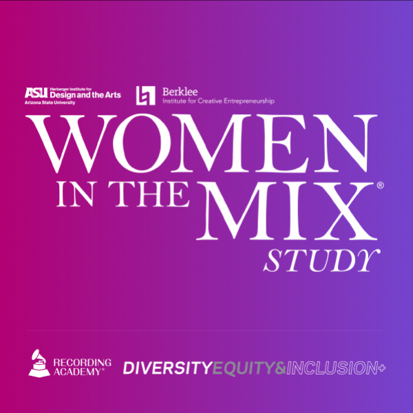Artwork for the Recording Academy's2021 Women In The Mix Study