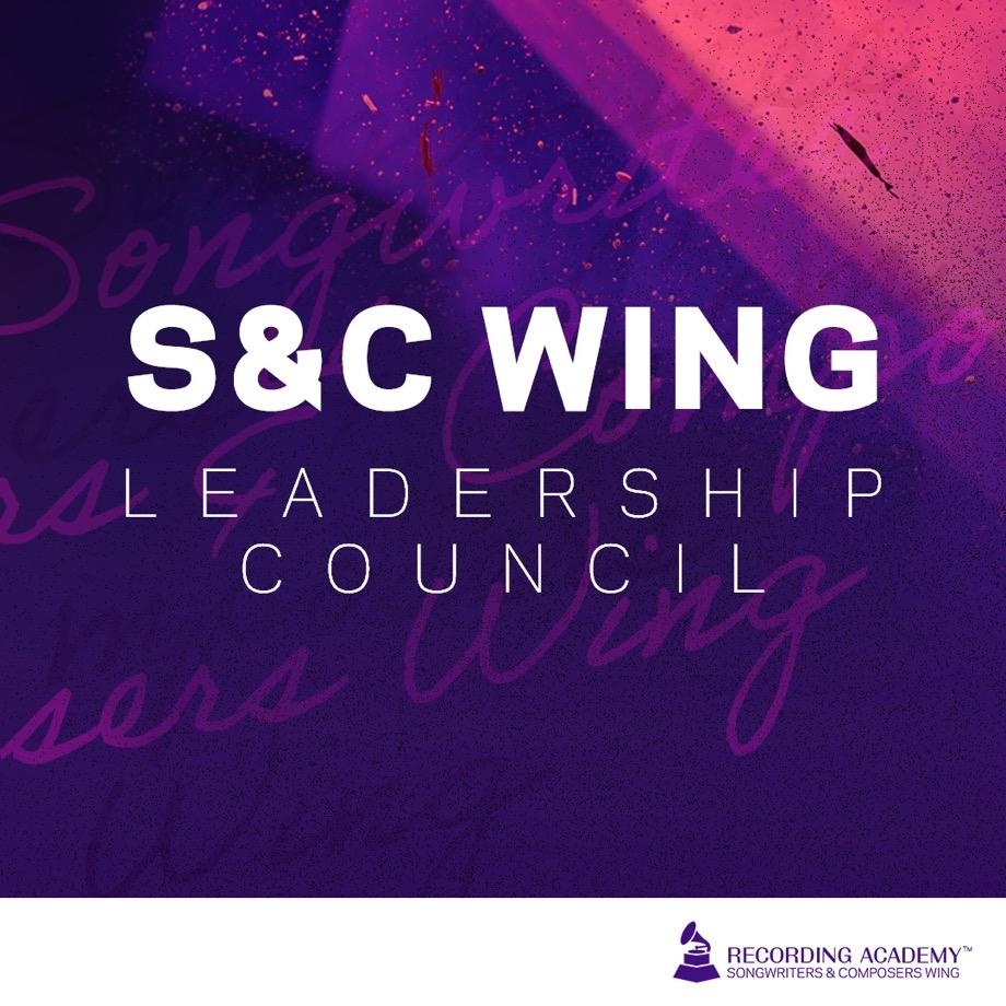 Artwork for Songwriters & Composers Wing Leadership Council announcement