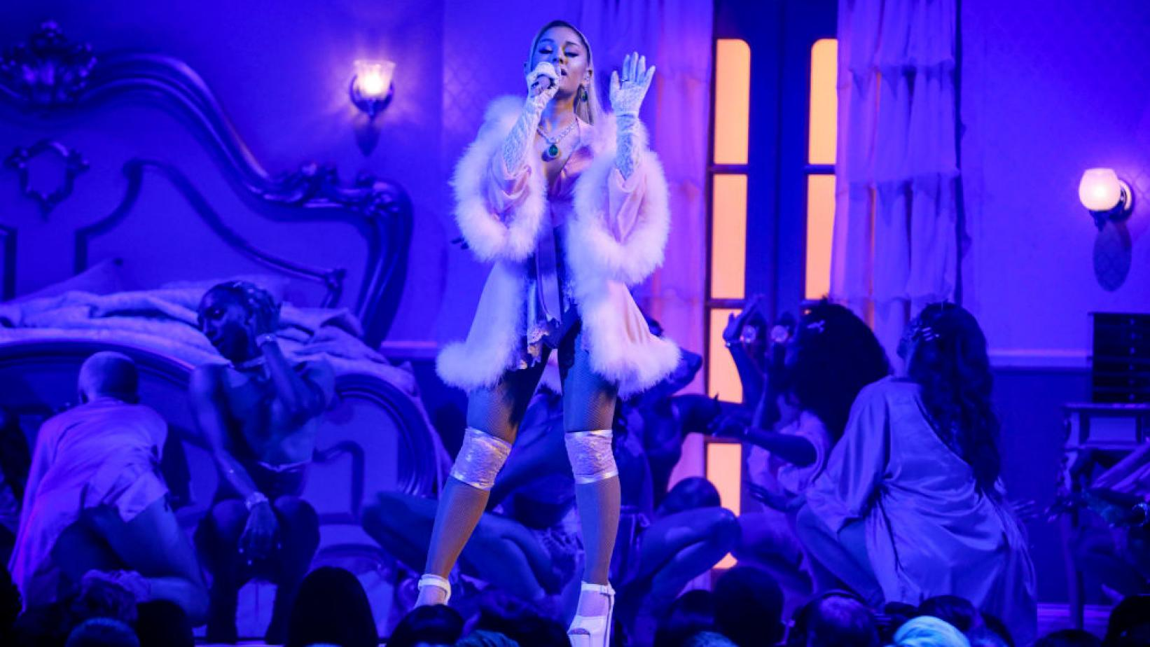 Ariana Grande performs at the 2020 GRAMMYs