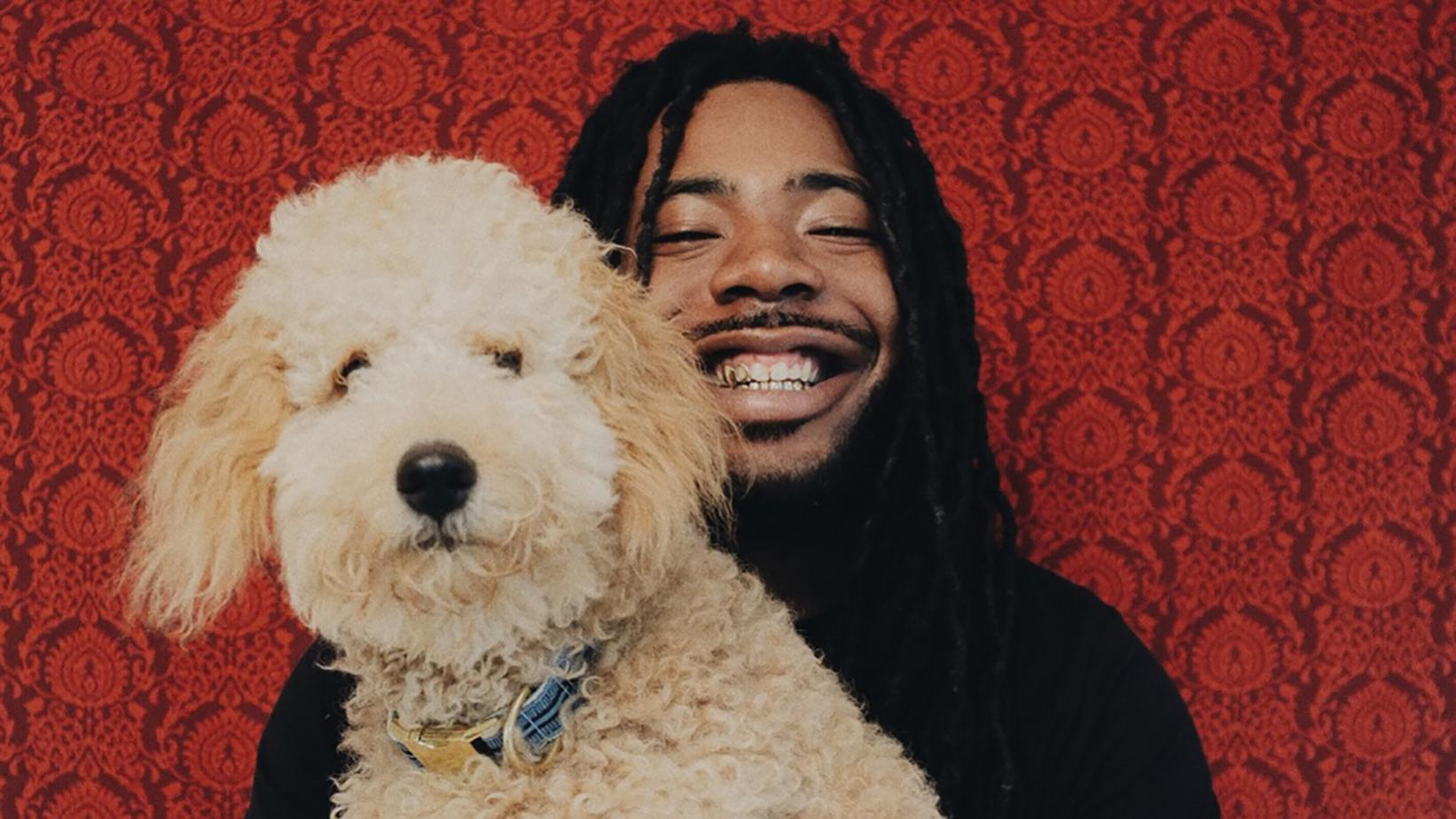 DRAM photographed with his dog Idnit