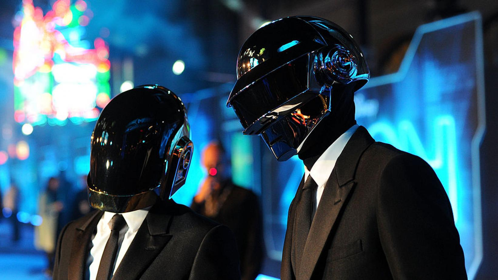 Daft Punk at the world premiere of 'TRON: Legacy' in 2010