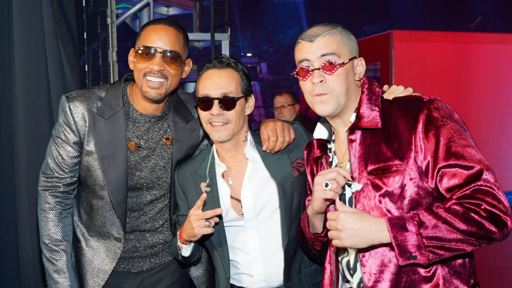 Will Smith, Marc Anthony, and Bad Bunny