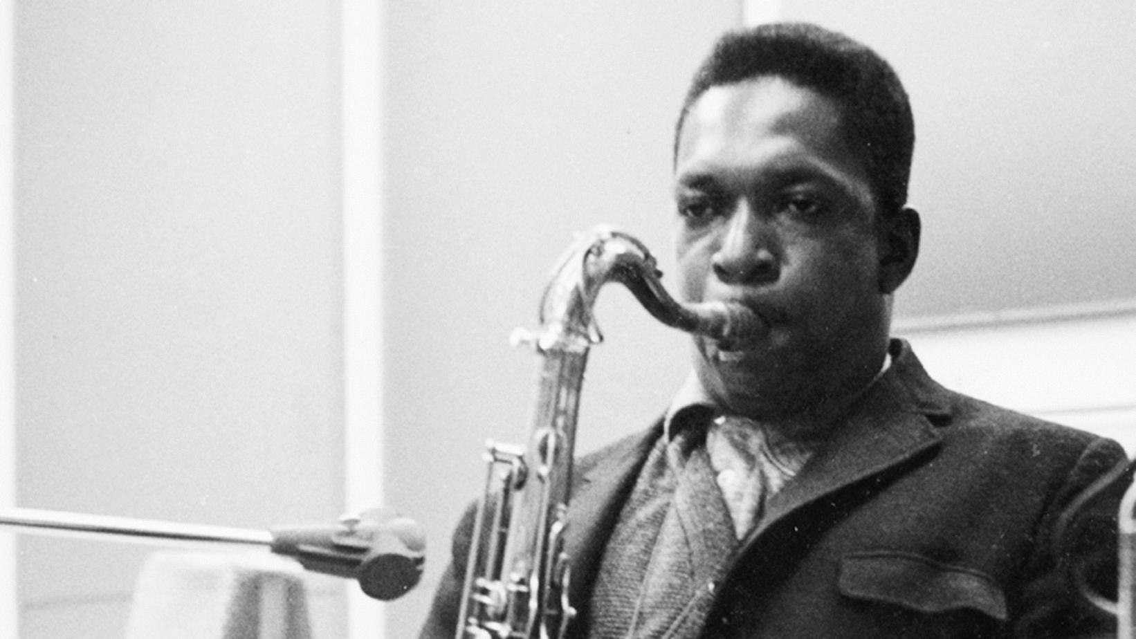 John Coltrane recording in 1960
