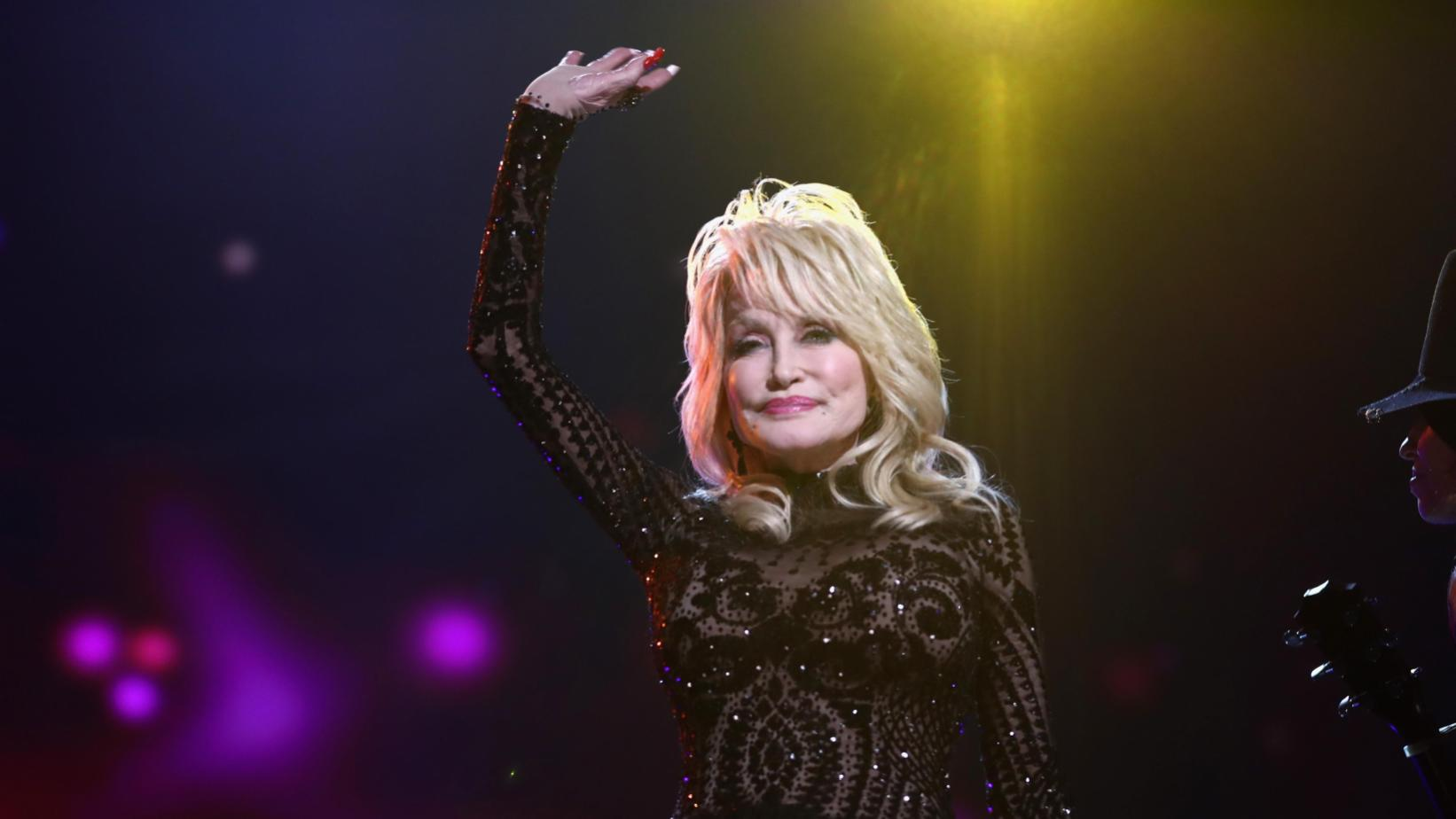 Dolly Parton at the 2019 MusiCares Person of the Year tribute concert