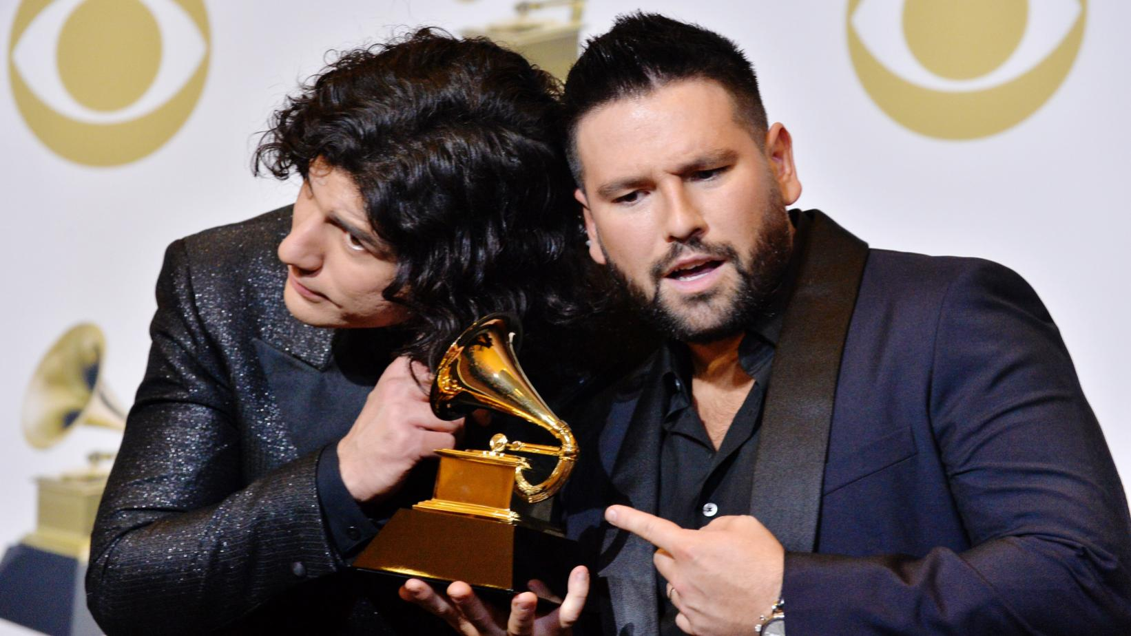 Dan + Shay listen to a GRAMMY