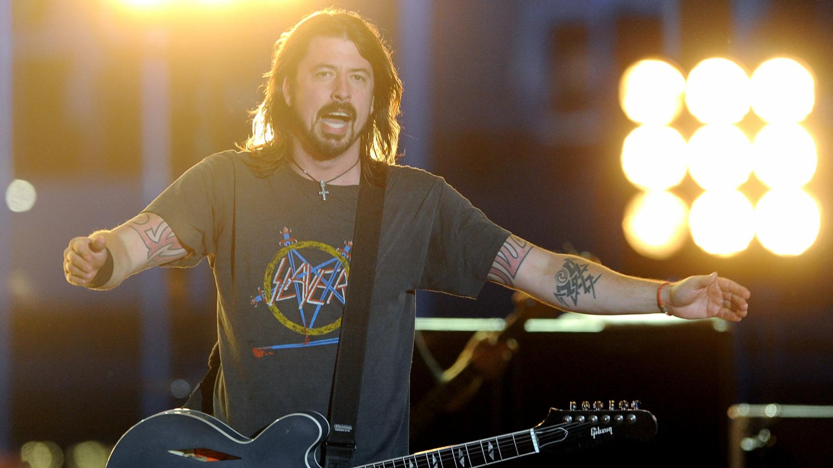 Foo Fighters' Dave Grohl performs at the 54th GRAMMYs