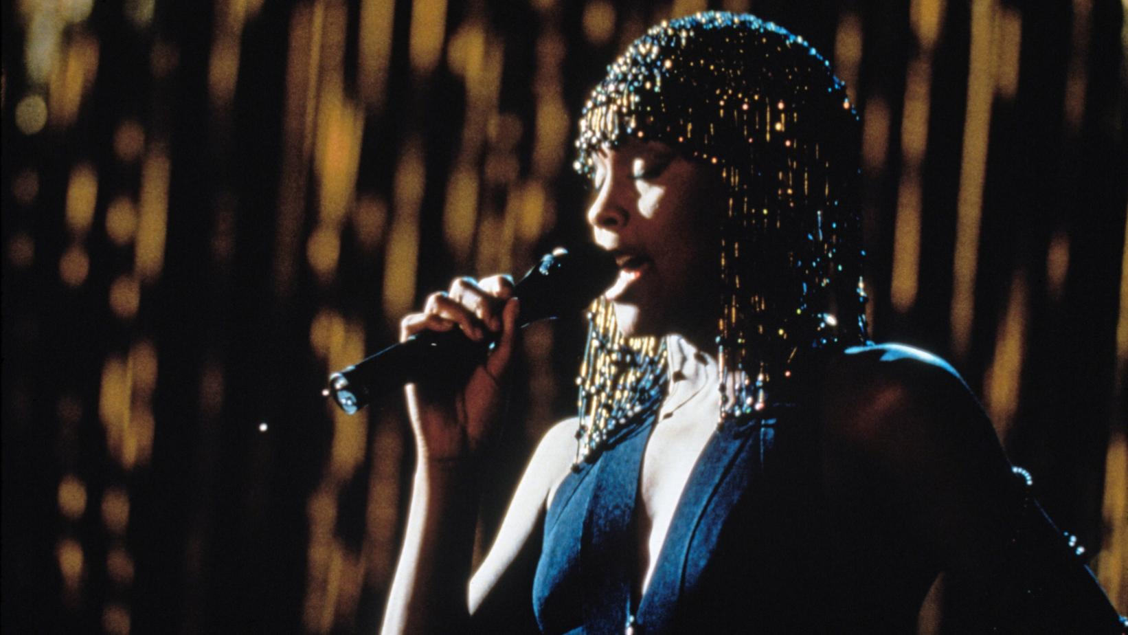 Whitney Houston photographed in The Bodyguard