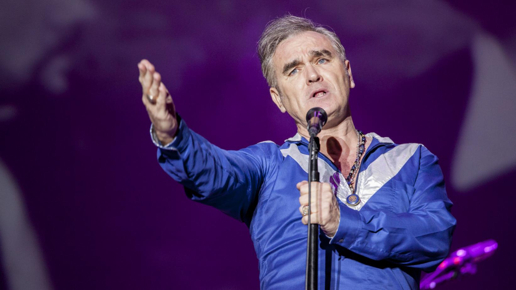 Morrissey performs in 2015