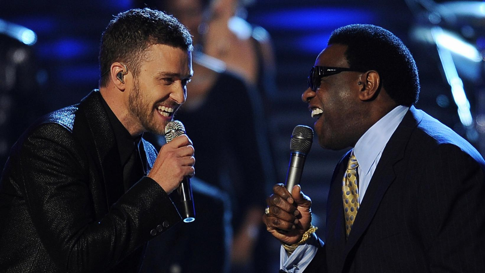 Justin Timberlake and Al Green at the 51st GRAMMYs in 2009