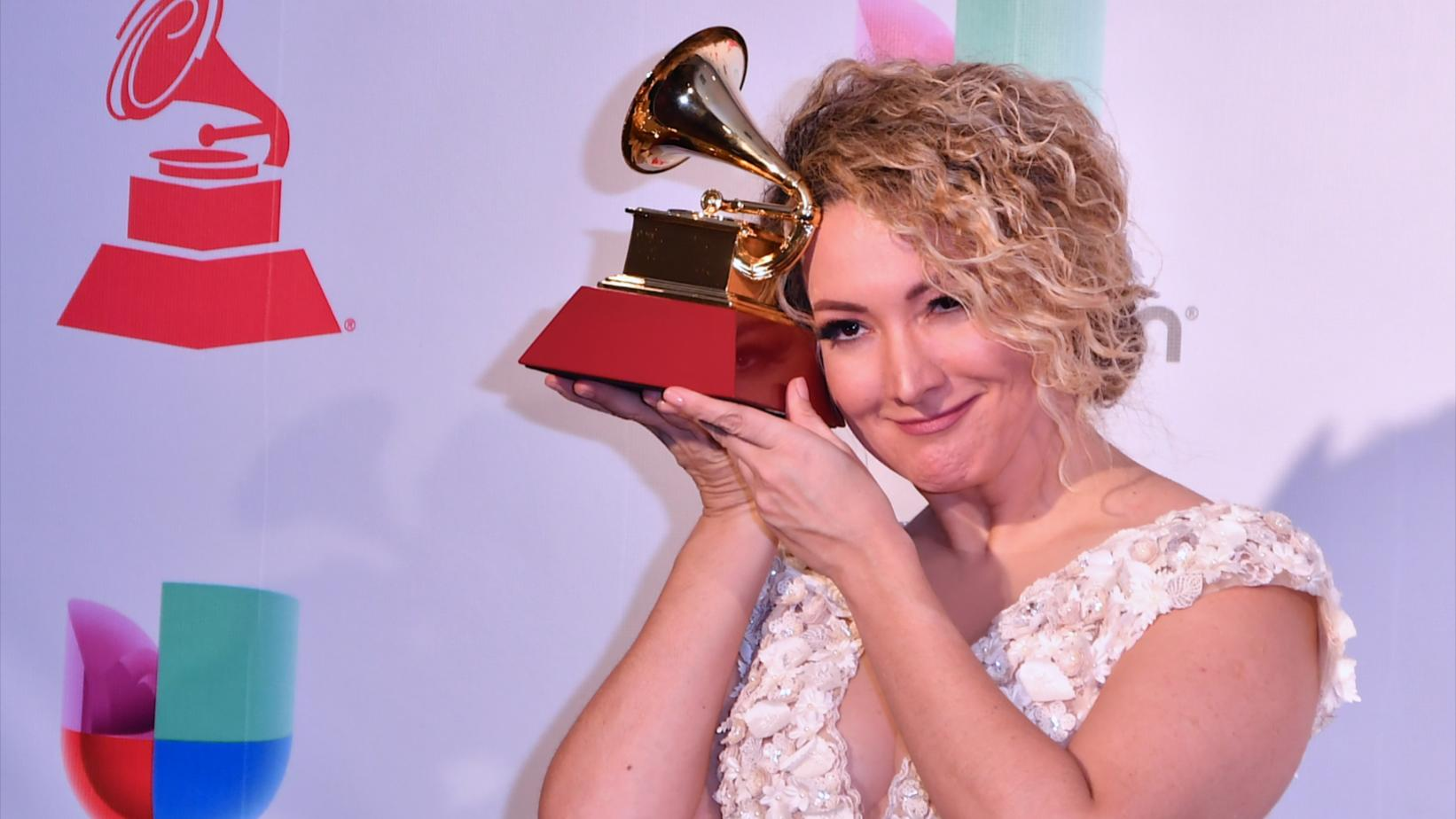 Erika Ender at the 18th Latin GRAMY Awards