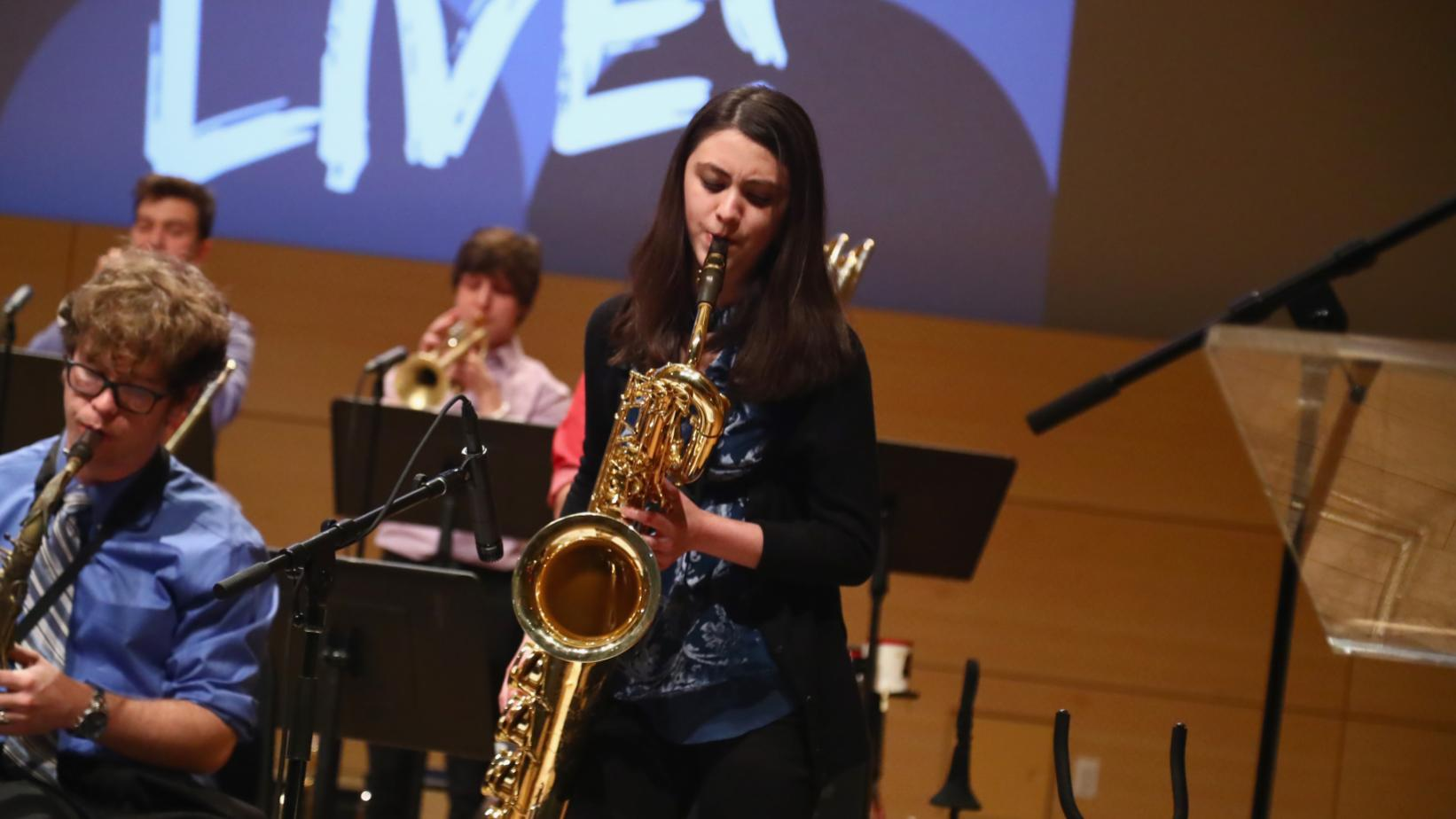 Veronica Leahy performs at GRAMMY In The Schools Live! in New York