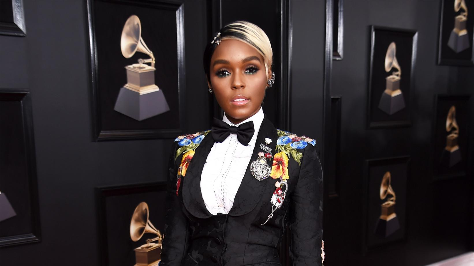 Janelle Monaé at the 60th GRAMMY Awards in 2018