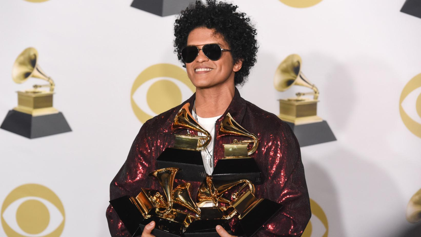 Bruno Mars at the 60th GRAMMY Awards, 2018