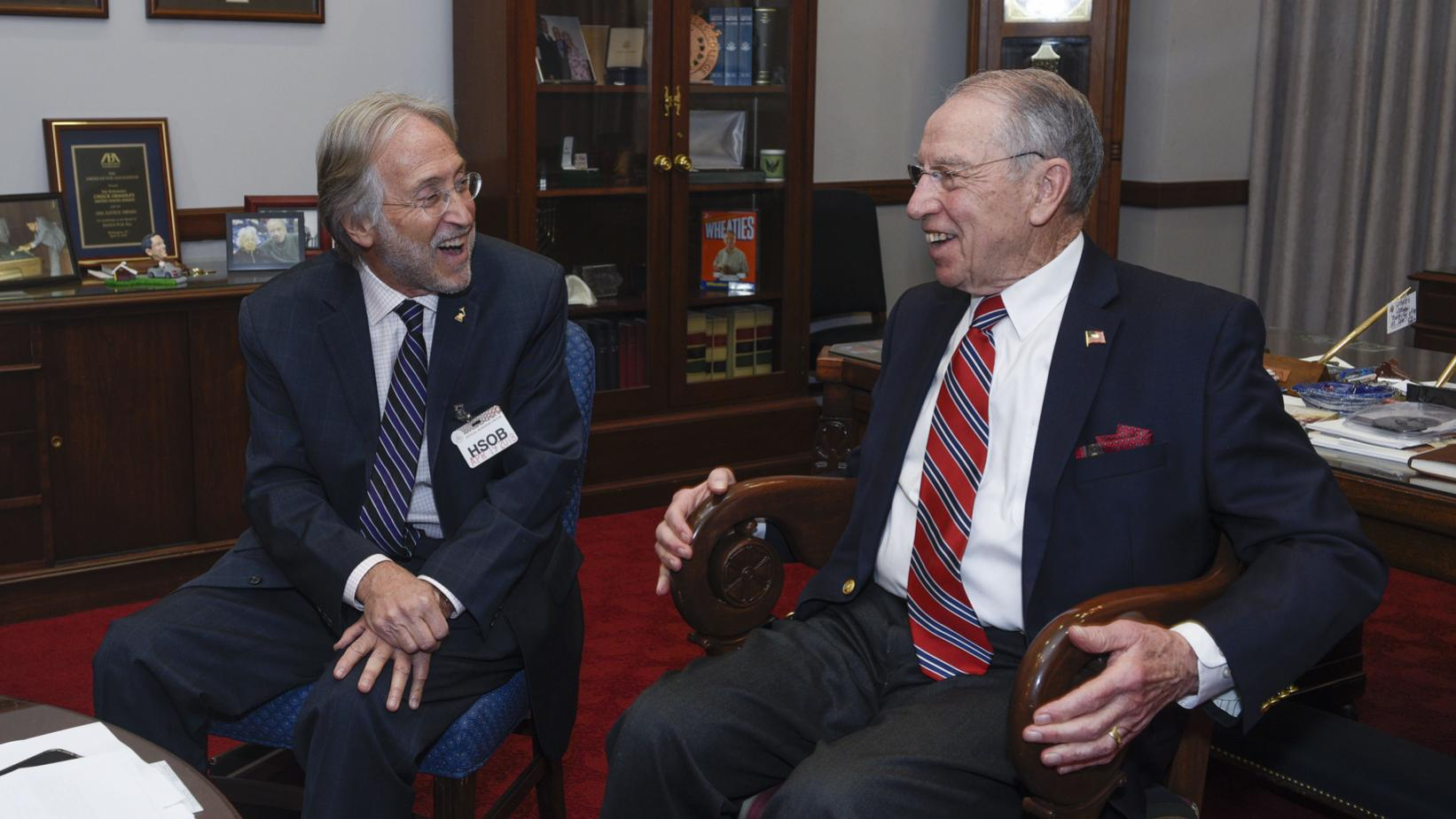 Neil Portnow and Sen. Chuck Grassley