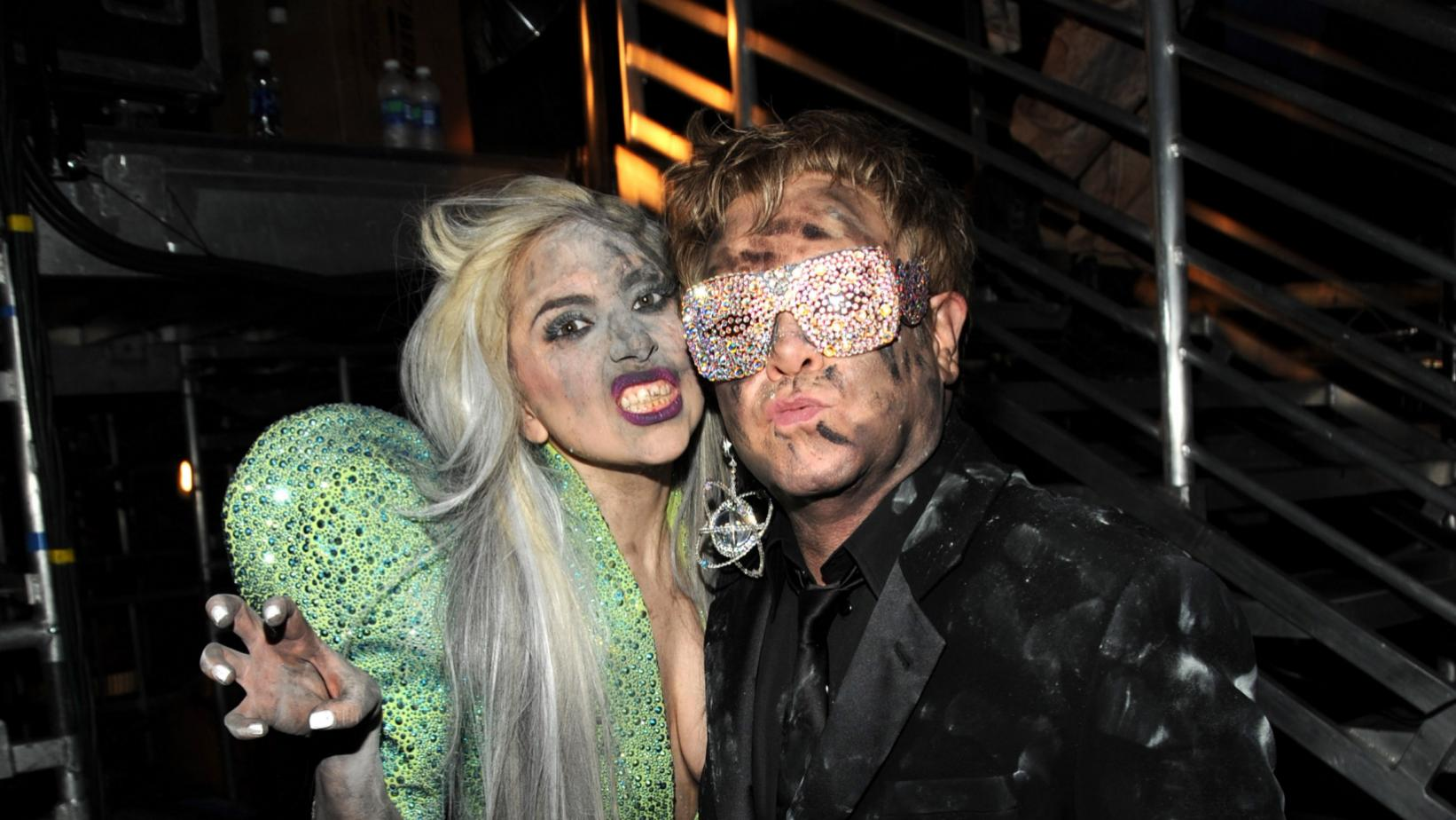 Elton John and Lady Gaga at the 52nd GRAMMY Awards in 2010
