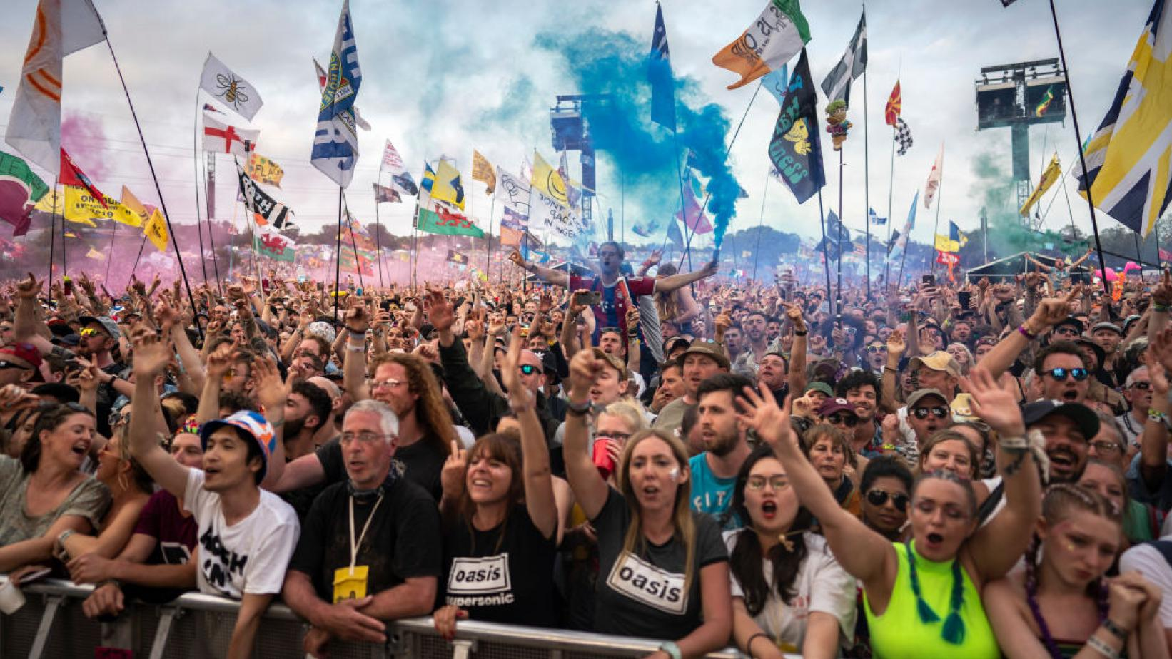 Crowd shot at Glastonbury Festival 2019